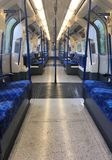 Empty London tube carriage stock images