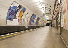 Empty London underground station. An almost empty London tube underground station Stock Image