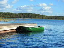 Empty lonely boat Royalty Free Stock Photo