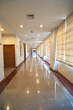 Empty long corridor Stock Photography