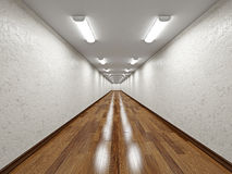 The empty long corridor Stock Photography