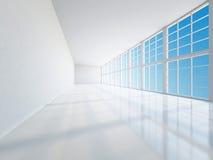 The empty long corridor Royalty Free Stock Image