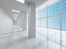 The empty long corridor Stock Photography