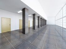 The empty long corridor Royalty Free Stock Photos