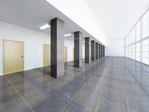 The empty long corridor Royalty Free Stock Photos