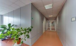 Empty long corridor Stock Photography