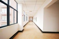 Empty long corridor Royalty Free Stock Image