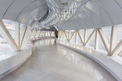 Empty long corridor in the modern office building.  Stock Photo