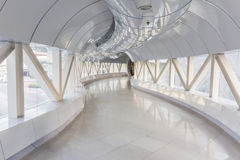 Empty long corridor in the modern office building.  Royalty Free Stock Photos