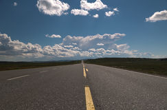 Empty long road Stock Images