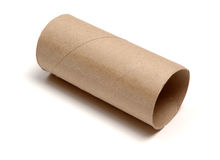 Empty loo roll. Isolated on white background royalty free stock images
