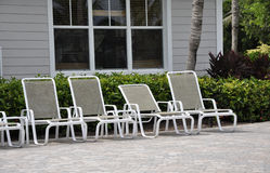Empty lounge chairs Stock Photography