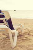 Empty lounger. Royalty Free Stock Photo