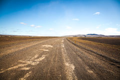 Empty lowland  in middle iceland Stock Photos