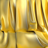 Empty, luxury Background made of Golden cloth for a still-life Stock Photography
