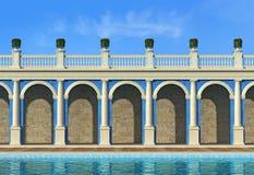 Empty luxury classic resort Stock Images
