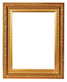 Empty luxury golden wooden frame Stock Photo
