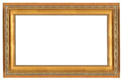 Empty luxury golden wooden frame Royalty Free Stock Photography