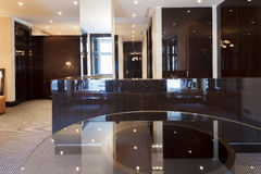 Empty luxury reception hal. L in modern office building Stock Images