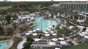 Empty luxury resort. Empty luxury Orlando resort seen from above in 4K Ultra HD stock video footage