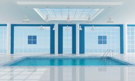Empty luxury resort swimming pool Royalty Free Stock Image