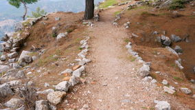 Empty lycian way, lycia road, turkey. The Sunday Times has listed it as one of the world's top ten walks. stock footage