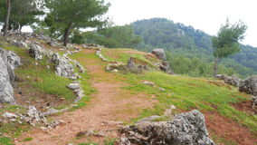Empty lycian way, lycia road, turkey. The Sunday Times has listed it as one of the world's top ten walks. stock video