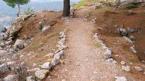 Empty lycian way, lycia road, turkey. The Sunday Times has listed it as one of the world's top ten walks. stock video footage