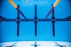 Empty 50m Olympic Outdoor Pool From Underwater Stock Photos