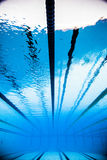 Empty 50m Olympic Outdoor Pool From Underwater Royalty Free Stock Images
