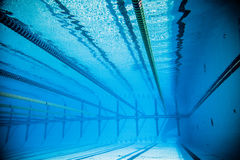 Empty 50m Olympic Outdoor Pool From Underwater Royalty Free Stock Photos