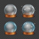 Empty Magic Crystal Ball Set. Vector Royalty Free Stock Photography