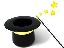 Empty magic hat. 3d illustration of empty magic hat Stock Photos