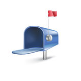 Empty mailbox  on white Stock Photography