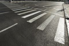 Vacant Main Street Crosswalk Royalty Free Stock Image