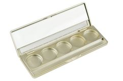 Empty Make-up palette isolated Royalty Free Stock Photography
