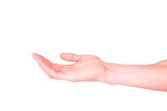 Empty male hand. Asking for help or suggesting help concept. Stock Image