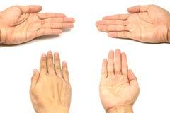 Empty man's hand isolated Stock Photo