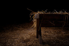 Empty Manger At Night Royalty Free Stock Images