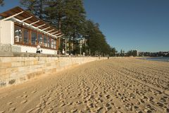 Empty Manly Beach, Sydney. Empty Manly Beach, Early Morning, Sydney, Australia Stock Photos