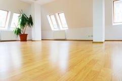 Empty mansard interior Stock Photos