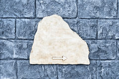 Empty marble street sign Royalty Free Stock Photography