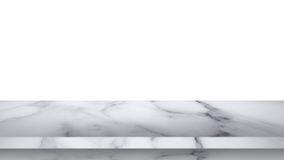 Empty marble table isolated on white background. Empty white marble table isolated on white background. For display or montage your products royalty free stock photo