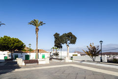 Empty market place in Yaiza, Royalty Free Stock Photography