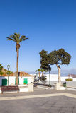 Empty market place in Yaiza,. Lanzarote royalty free stock photography