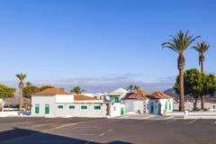 Empty market place in Yaiza,. Lanzarote royalty free stock photo