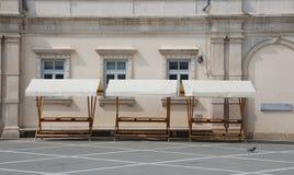 Empty Market Stalls Stock Image