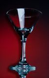 Empty martini glass Royalty Free Stock Photography