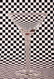 Empty martini glass Stock Photography