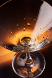 Empty martini glass Stock Image